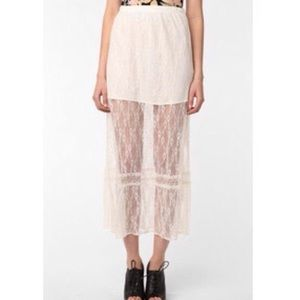 Dresses & Skirts - URBAN OUTFITTERS Sheer Lace Skirt